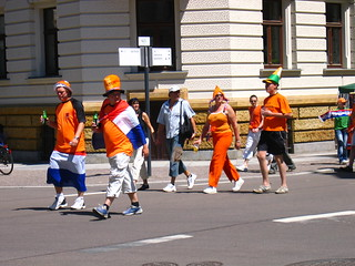 first dutch fans appearing