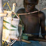 kente cloth making