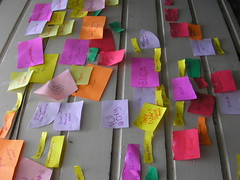 Coloured post-it