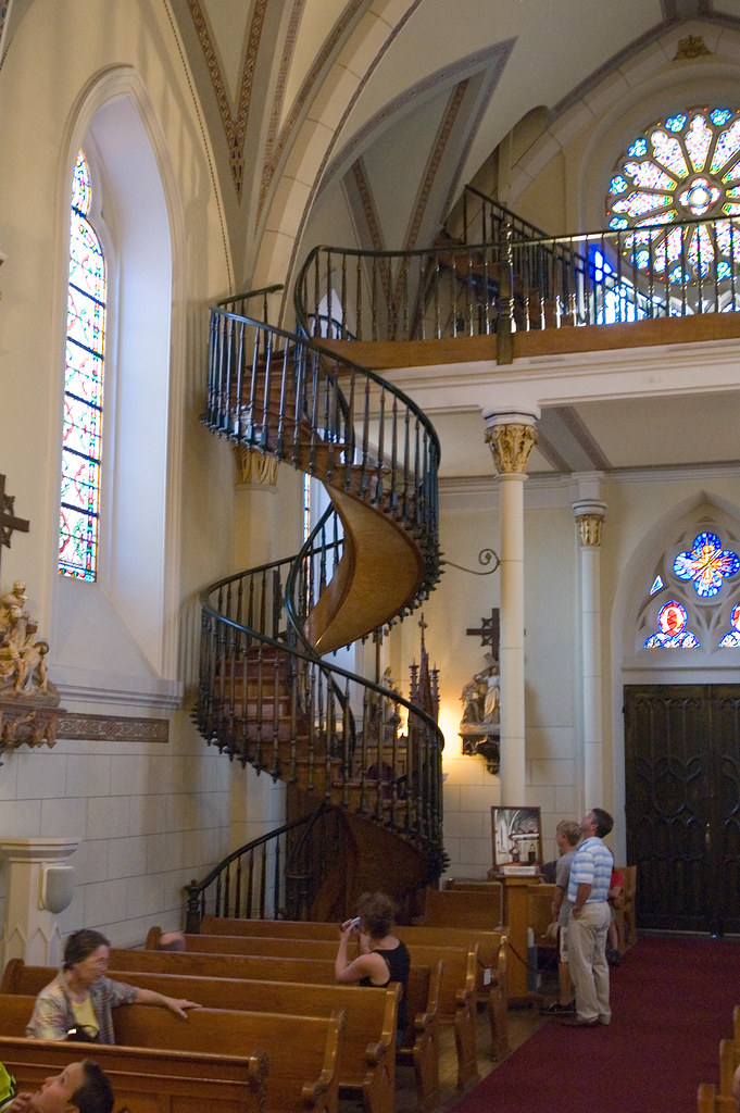 the miraculous loretto chapel staircase | Flickr - Photo ...