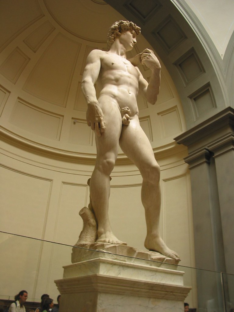 Così si rompe il David di Michelangelo
