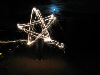 Fun with leftover sparklers #10