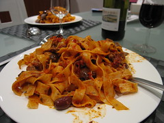 meal, pappardelle, food, dish, cuisine,