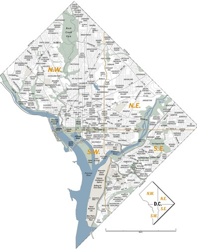DC Neighborhood Map