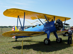 model aircraft(0.0), piper pa-18(0.0), stampe sv.4(0.0), royal aircraft factory b.e.2(0.0), flight(0.0), aviation(1.0), biplane(1.0), airplane(1.0), propeller driven aircraft(1.0), wing(1.0), vehicle(1.0), polikarpov po-2(1.0), boeing-stearman model 75(1.0), ultralight aviation(1.0),