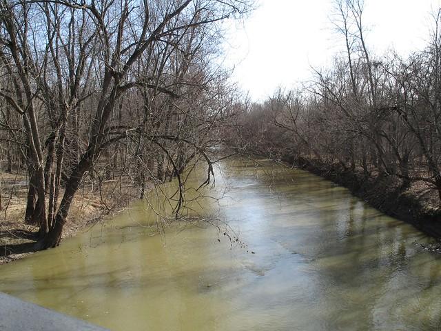 Tiffin River from bridge on Wabash Cannonball Trail, Ohio