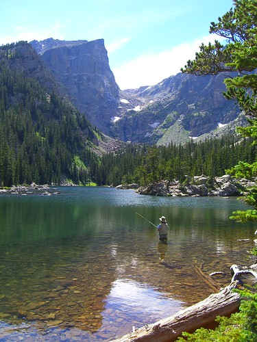 Fly Fishing at Dream Lake