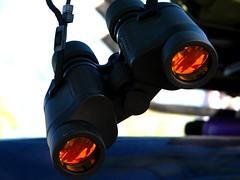 binoculars, optical instrument, light,