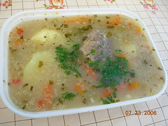 meal(0.0), produce(0.0), food(1.0), dish(1.0), broth(1.0), congee(1.0), soup(1.0), cuisine(1.0),