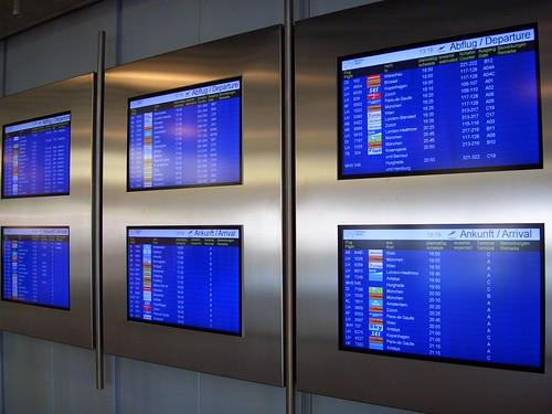 Airport displays