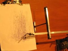 drawing machine close up
