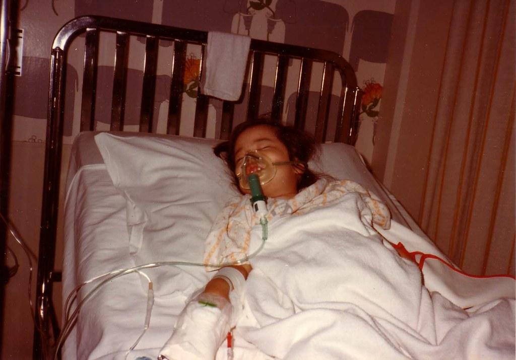 Me w/Pneumonia, Kapi'olani Medical Center for Women & Children, 1982