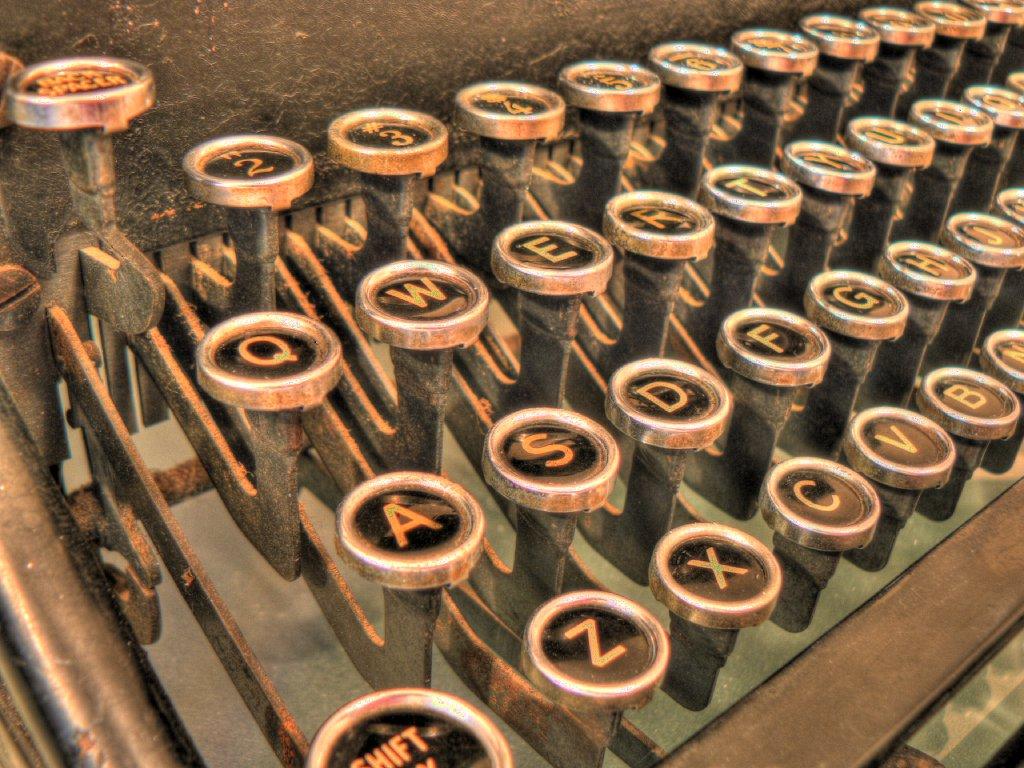 Underwood No. 5 keys