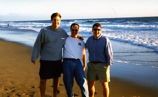 Shane, John and me on the Beach