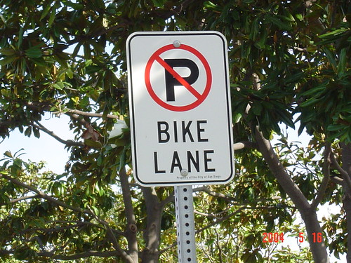 No Parking - Bike Lane Sign