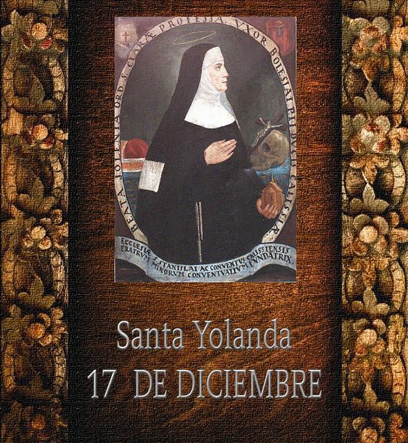 Santa Yolanda.(†Dedicado  al P.Cotallo)