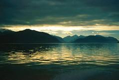 Golden Sunset in Tracy Arm, Alaska