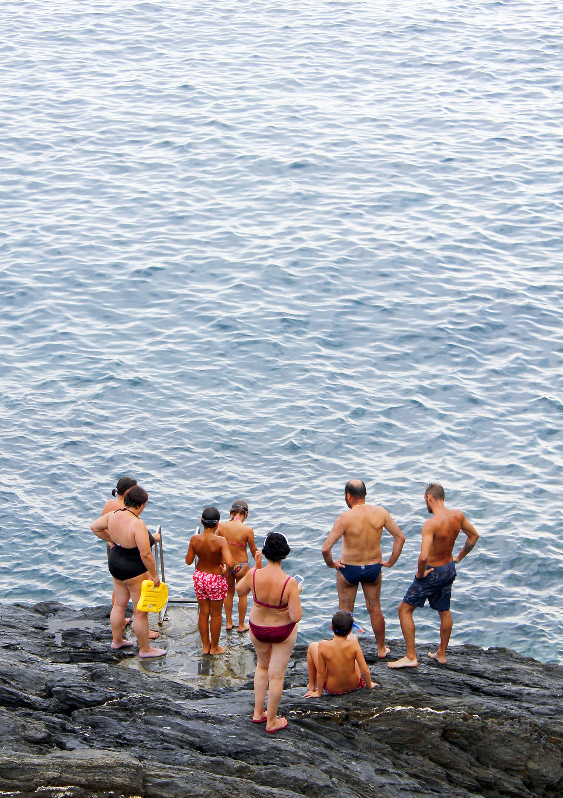 Vernazza Cinque Terre sunset swim