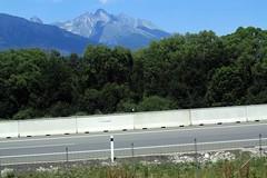 High Tatras (from the express train), Slovakia