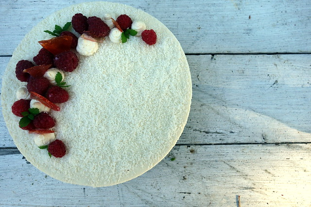 Raspberry & Coconut cheesecake