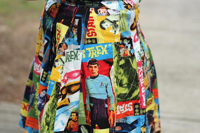 Close Up of the Star Trek: The Original Series Print Pleated Skirt