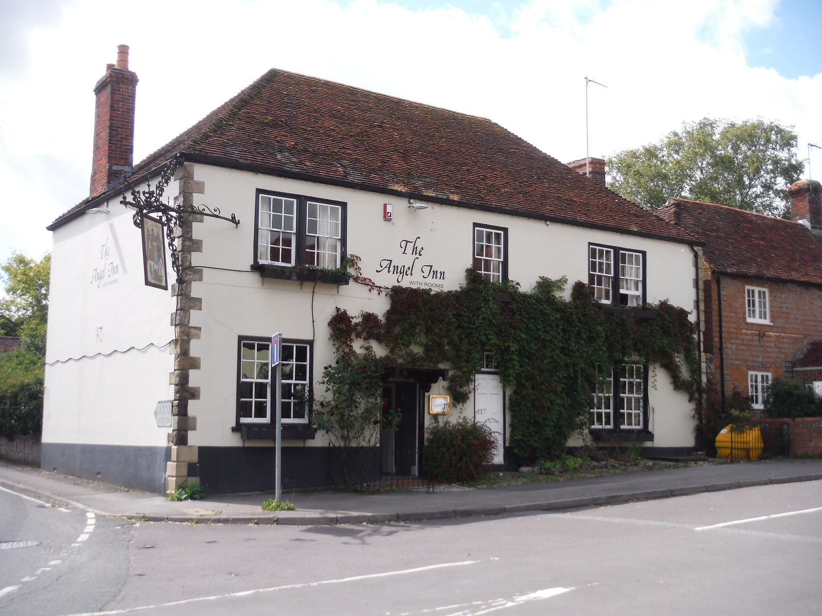 The Angel Inn. Hindon SWC Walk 248 Tisbury Circular via Hindon