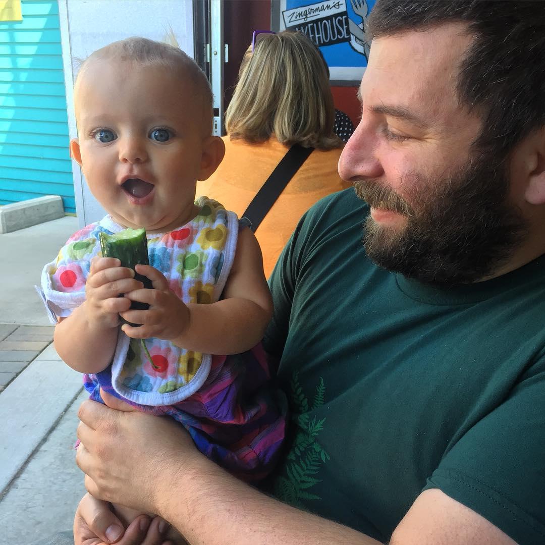 Babys first lunch at Zingermans! #hattiegram #pickles