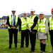 Sod cutting at Hass Park, Dungiven, 27 August 2015