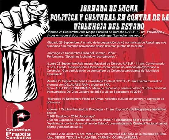 Colectivos convocan a mega marcha a un año de sucesos de Ayotzinapa