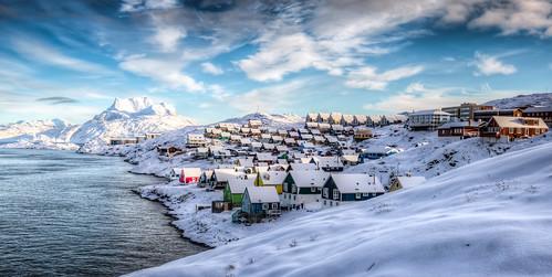 Nuuk and Sermitsiaq