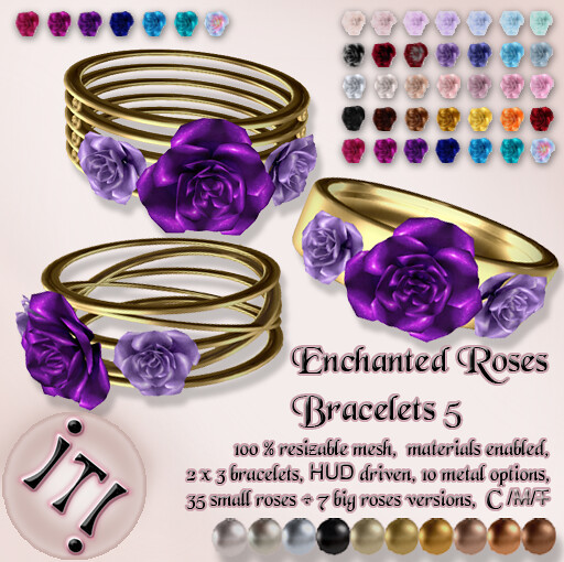 !IT! - Enchanted Roses Bracelets 5 Image