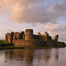 Caerphilly castle. Gwent, Wales