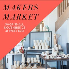 A little reminder that this Saturday is #smallbizsat and I'll be setting up with some other lovely makers at@westelmsandiego for a pop-up shopping event! If you're in the area come say hi! Thank you to @sd.ahas for organizing this event! :kissing_heart: I