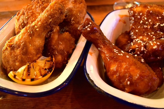 Fried Chicken Two Ways at Dirty Bones, Carnaby Street   www.rachelphipps.com @rachelphipps