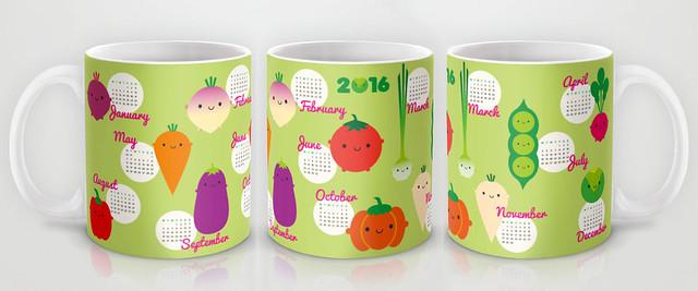 2016 Calendar Mug - 5 A Day