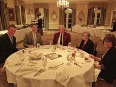 Club members waiting on dinner.