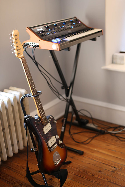 Photo:Fender Jazzmaster & Moog Little Phatty By David Hilowitz