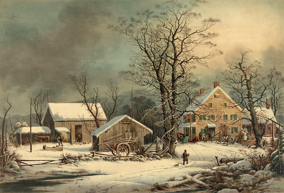 Winter in the Country. Published by Currier & Ives, c1863