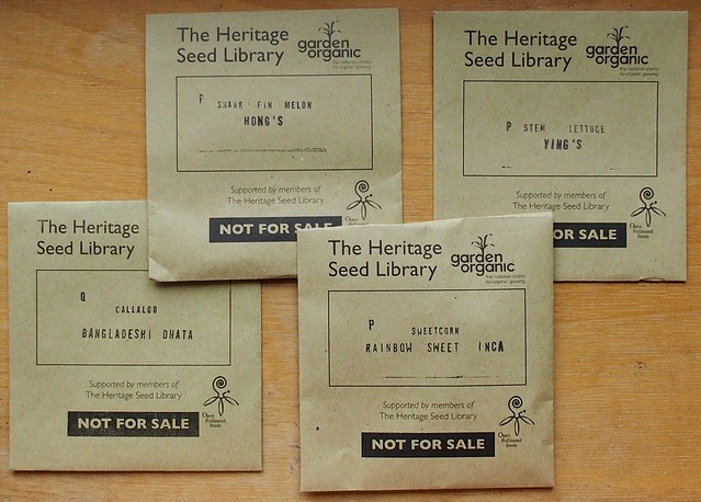 Heritage Seed Library 2016 choices
