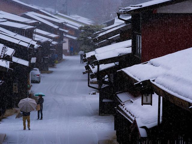 Snowing village, RICOH PENTAX 645Z, smc PENTAX-FA645 150-300mm F5.6 ED [IF]