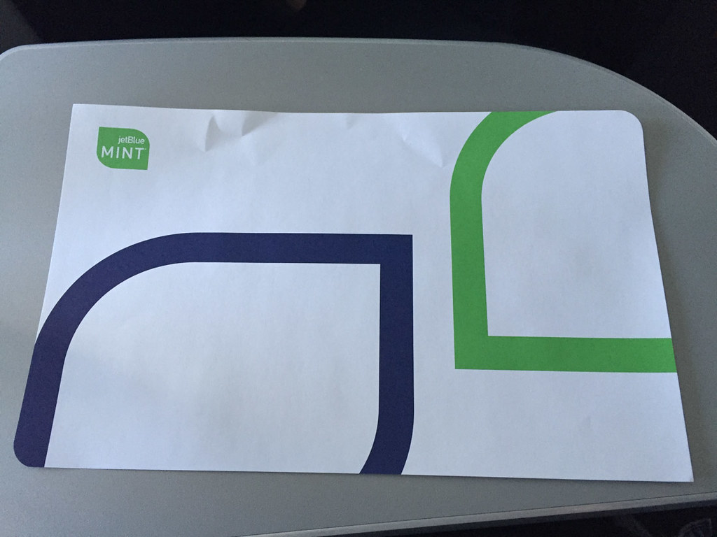 JetBlue Paper Placemats
