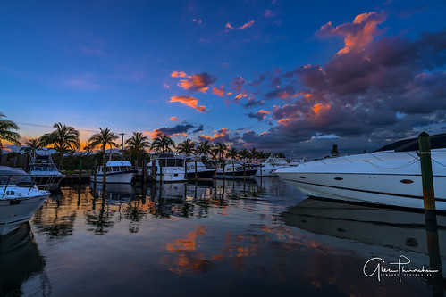 sony a7r2 sonya7r2 ilce7rm2 zeissfe1635mmf4zaoss fx fullframe scenic landscape waterscape nature outdoors sky clouds colors reflections sunset boats yachts harbor jensenbeach martincounty stuart florida southeastflorida