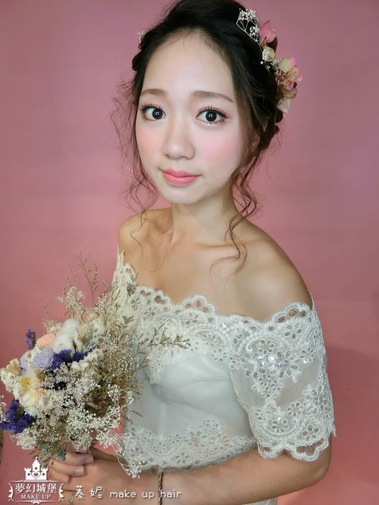 【新秘蓁妮】新娘造型創作 / 唯美三股編盤髮