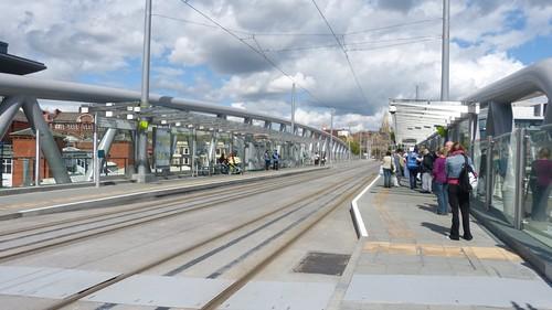 Railway station tram stop
