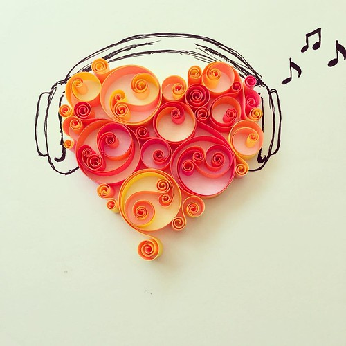 Quilled Headphones by Isil Pinarbasi