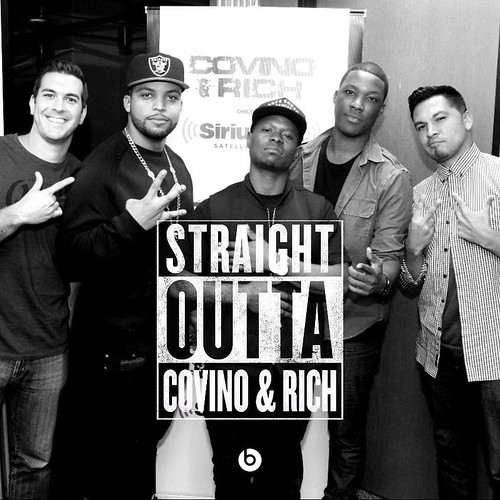 #StraightOuttaCompton cast with crazy MFers named C&R #TheShow Catch today's interview on @siriusxm OnDemand