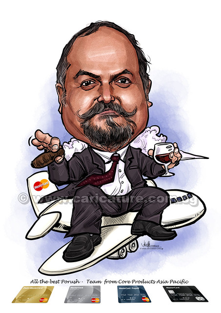 digital boss caricature for Mastercard (watermarked)