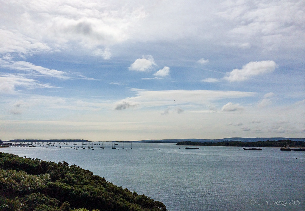 View over Poole Harbour from Ham Common