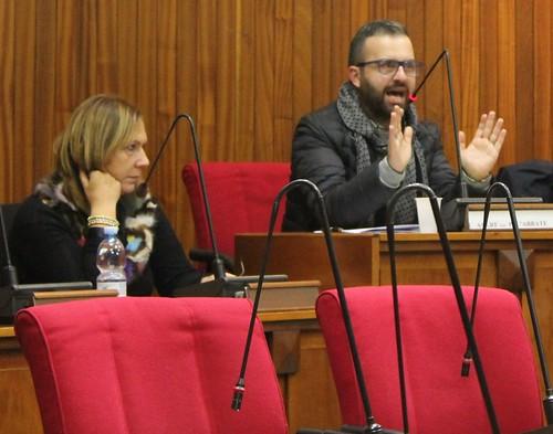 La dott.ssa Maria Centrone e l'ing. Giuseppe Deleonibus