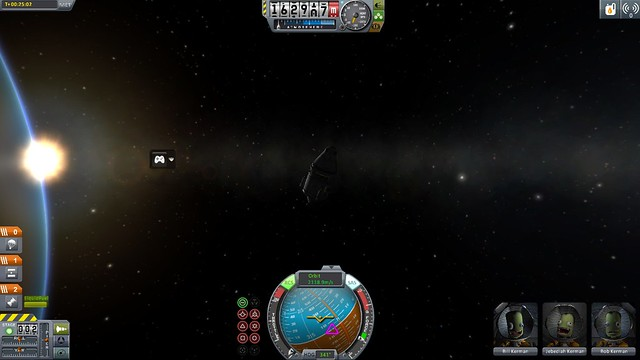 orbiting in sandbox mode